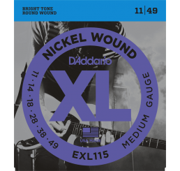 D'ADDARIO EXL 115 NICKEL WOUND 11-49