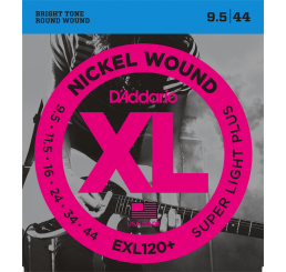 D'ADDARIO EXL 120+ NICKEL WOUND 9,5-44