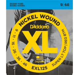 D'ADDARIO EXL 125 NICKEL WOUND 9-46