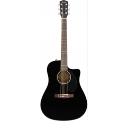 FENDER CD-60SCE, BLACK