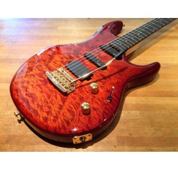 MUSIC MAN BFR LUKE HSS HAZEL BURST QUILT + CASE