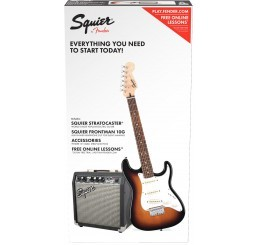 SQUIER SHORT SCALE STRAT PACK BSB
